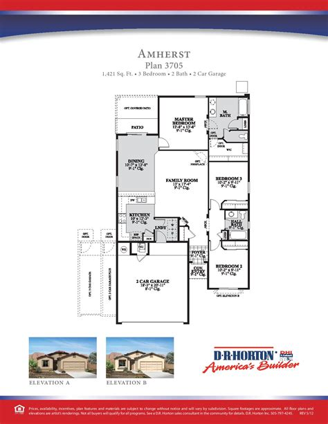 Twilight House Floor Plan by Dr Horton Amherst Floor Plan