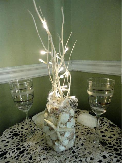 sea themed centerpieces for a wedding nautical decor sea shell beachy centerpiece vase by