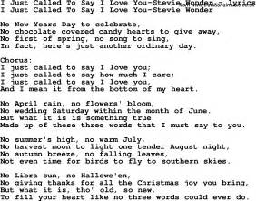 Download i just called to say i love you stevie wonder as pdf file