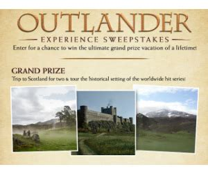 Trip Sweepstakes And Giveaways - win a trip to scotland and outlander prize packs free sweepstakes contests giveaways