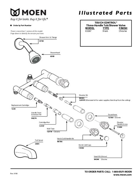Moen Shower Valve Parts by Moen Plumbing Product 83267 User S Guide Manualsonline