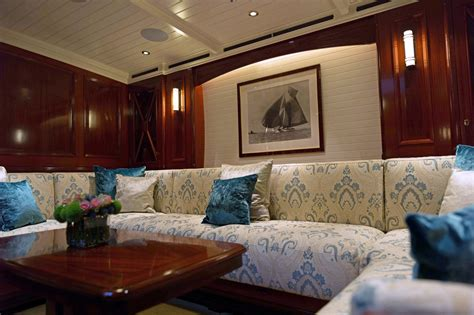 J Interiors by New J Class Yacht Rainbow Marries Tradition And Technology