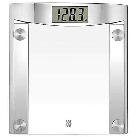 weight watchers bathroom scales buy weight watchers 174 digital glass bathroom scale with polished chrome frame by