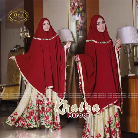 Elsa Syar I Maroon Gamis Syar I Busui Warna Merah Maroo Diskon khaira mint pusat busana gaun pesta muslim modern