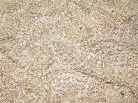 pearl beaded fabric 1920s style pearl beaded sequined couture