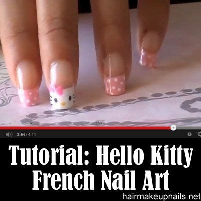 nail art tutorial hello kitty french tips 697 best nails images on pinterest nail scissors make