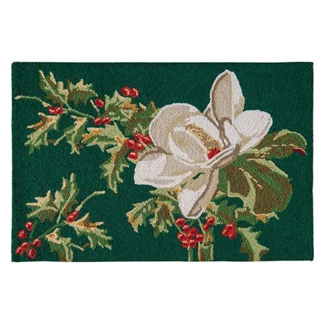 c f enterprises hooked rugs magnolia flower hooked rug 2 x 3 c f enterprises