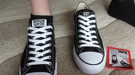 how to bar lace converse high tops how to lace shoes without a bow youtube