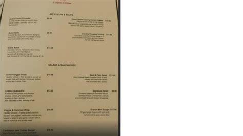 comfort inn menu dinner menu picture of crusoe s garden restaurant at