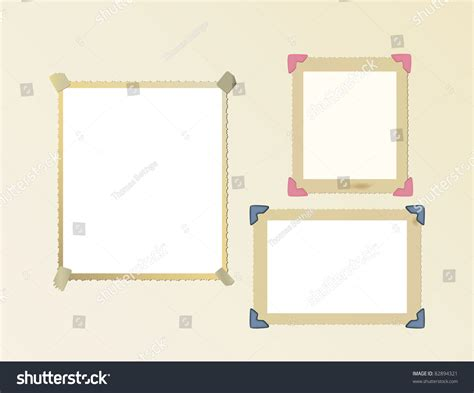 corner photo frames vintage photo frame set mounted with photo corners and
