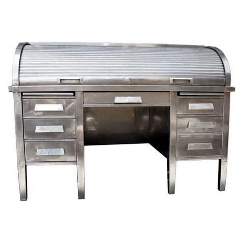 metal roll top desk machine age industrial metal bankers roll top desk desks
