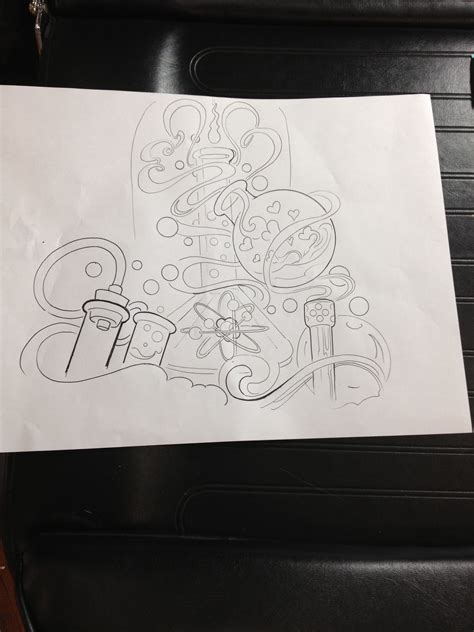 chemistry tattoo designs chemistry layout drawing health