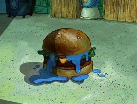 Patty Sees A Blue hmm a krabby patty with blue jelly blue jelly