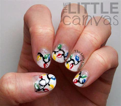 christmas light nail art the little canvas