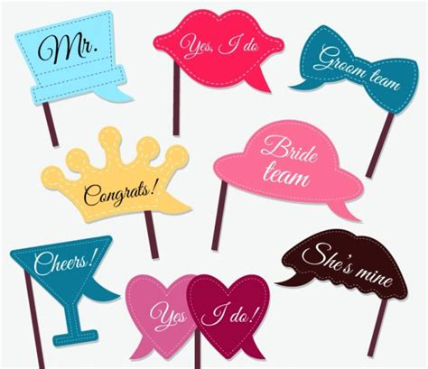 wedding photo booth props printable pdf free download assortment of great accessories for wedding photo booth