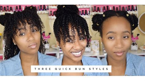 5 back to school hairstyles for natural hair 3 quick back to school natural hairstyles 2 min easy bun