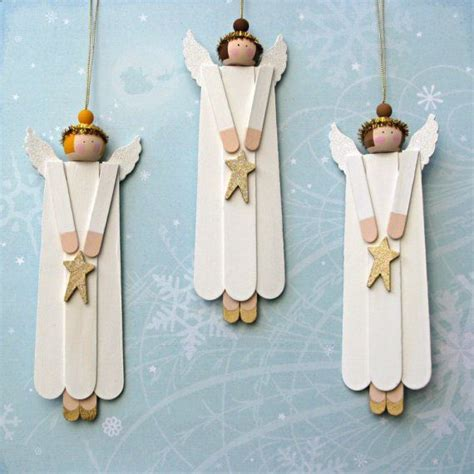 angel wood christmas ornaments set of 3 angel