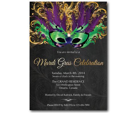 mardi gras party invitations theruntime com