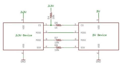 resistors on spi lines 3 3v sensor interfacing abdien