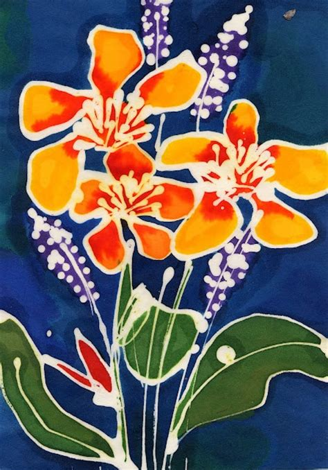 simple batik design flower batik exle paintings batik pinterest