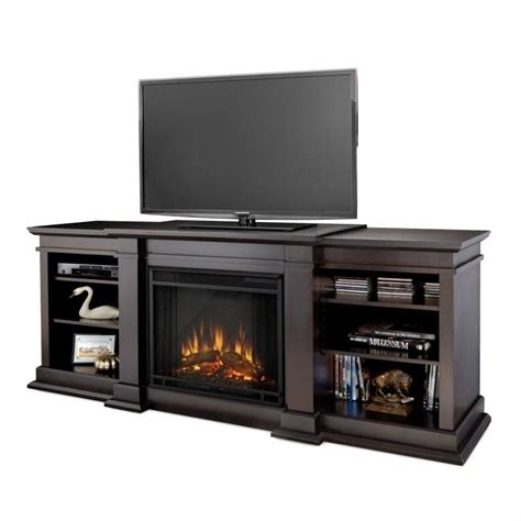 Tv Stands With Electric Fireplace Fresno Tv Stand Electric Fireplace In Walnut G1200e Dw