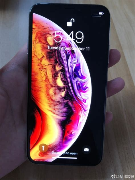 iphone 2018 l iphone xs se montre via des photos de prise en