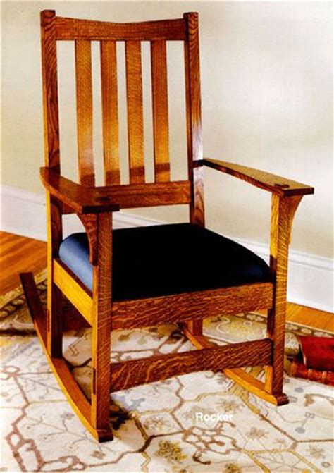 craftsman rocking chair woodworking plan woodworking projects plans