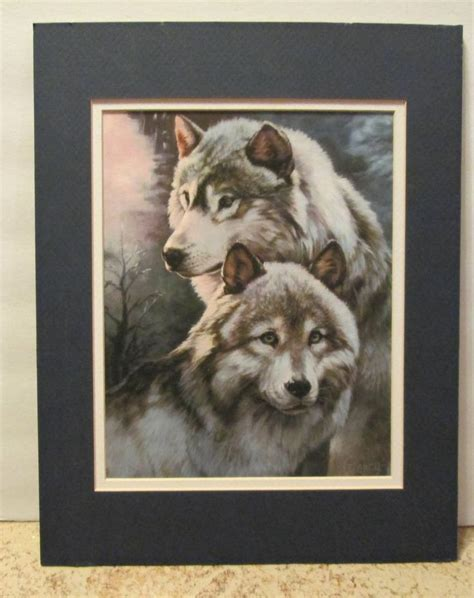 china doll 2 hoover wolf painting print by clancy sentinels matted frame