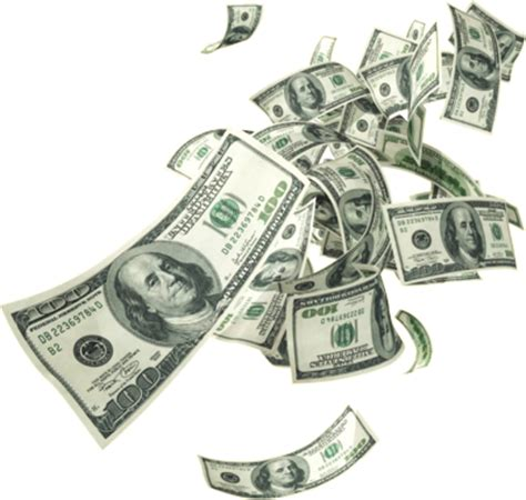 new money floating / falling psd, vector file vectorhq.com