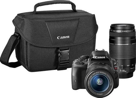 canon eos rebel sl1 best buy canon eos rebel sl1 dslr with 18 55mm stm and 75
