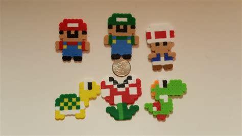 bead characters mario characters perler bead sprites