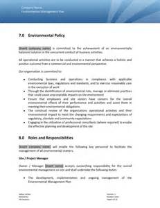 construction environmental management plan template environmental management programme sle templates an
