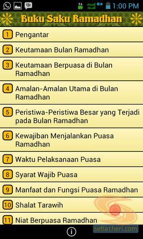 besok sudah ramadhan, yuk unduh aplikasi android buku