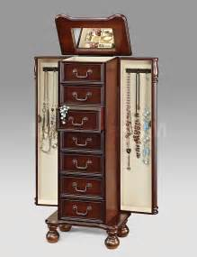 Jewelry Chests Armoires Cherry Jewelry Armoire Bedroom Armoires Af 97006 8