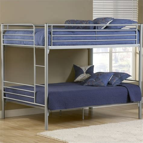 metal bunk bed hillsdale universal youth full over full metal bunk bed silver finish ebay