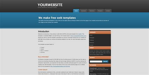 html templates for website with css templates robot tip