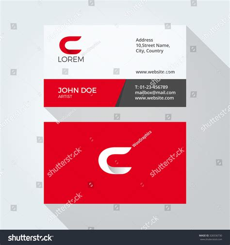 c business card template c letter logo modern simple abstract stock vector
