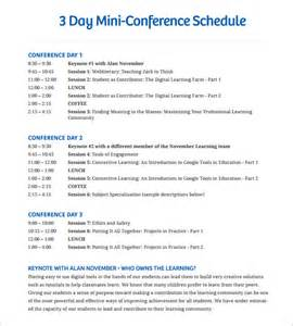 writing conference template conference schedule template 7 free sle exle