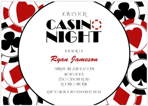 casino birthday card template casino invitations theruntime