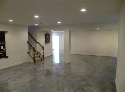 here is another basement floor with stained concrete is