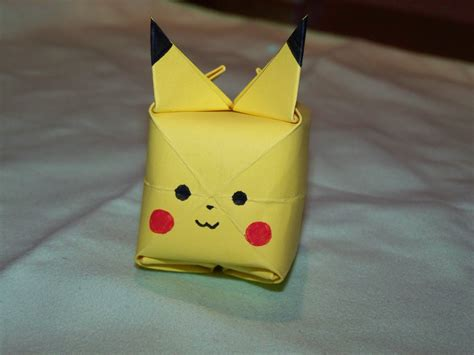 pikachu origami advanced origami diy how to make a pikachu origami walyou pikachu