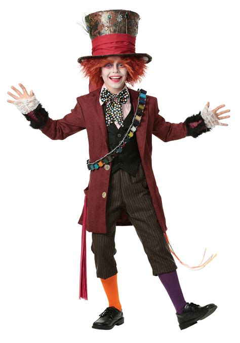 halloween costumes child authentic mad hatter costume