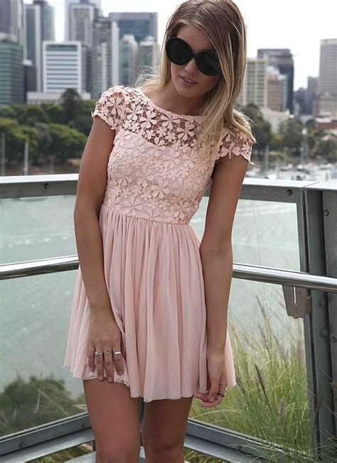 Mini Dress Dress Korea White Sweet Roses L Import Original pink embroidered lace top dress with tulle pleated skirt