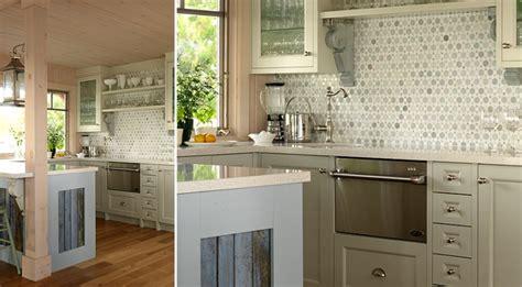 Cottage Kitchen Backsplash Ming Green Marble Backsplash