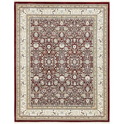 burgundy area rugs 8 x 10 unique loom tabriz burgundy 8 ft x 10 ft area rug 3136934 the home depot