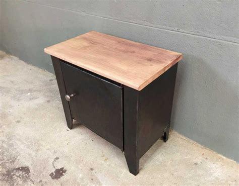 Table De Nuit Industrielle by Table De Nuit Style Industriel Bois Et M 233 Tal Petit Meuble