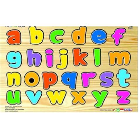 mainan edukatif sni menara huruf gambar aktiviti asas membaca gambar huruf kecil di rebanas