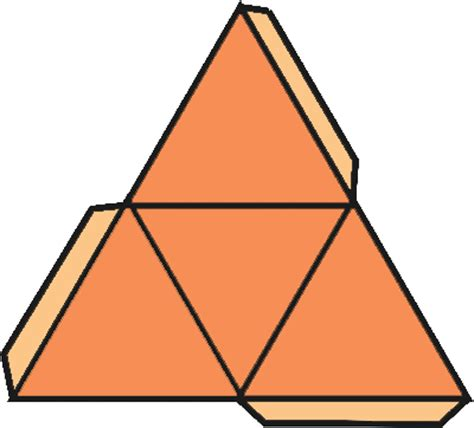 How To Make A Three Sided Pyramid Out Of Paper - a triangular pyramid math central