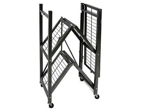 Origami 3 Tier Folding Storage Shelves - origami collapsible rack small 2 pack woot