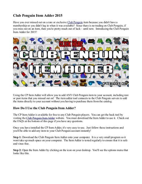 club penguin item adder 2015 video breakcom club penguin item adder 2015